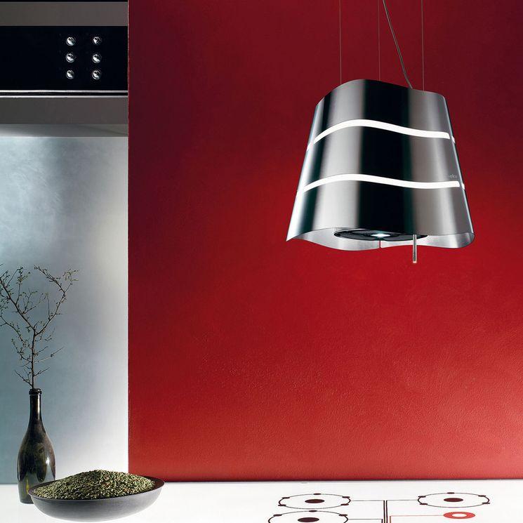 Hotte cuisine Elica suspendue acier inox WAVE   51 cm