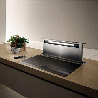 Hotte cuisine Elica escamotable ADAGIO inox 90 cm