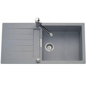 vier granit gris ewi nova 1 grand bac 1 gouttoir cuisissimo. Black Bedroom Furniture Sets. Home Design Ideas
