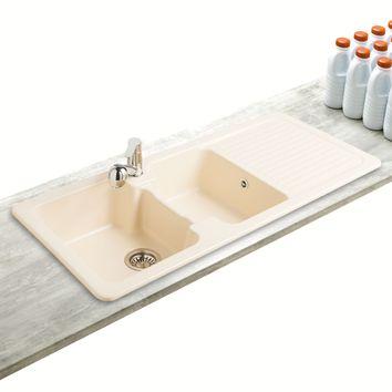 evier ceramique 2 bacs villeroy g nie sanitaire. Black Bedroom Furniture Sets. Home Design Ideas