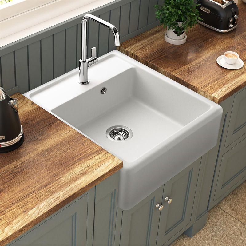 evier cuisine ceramique blanc a poser pr l vement d 39 chantillons et une bonne. Black Bedroom Furniture Sets. Home Design Ideas