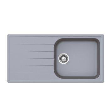 Évier granit gris Schock VIOLA 1 grand bac 1 égouttoir