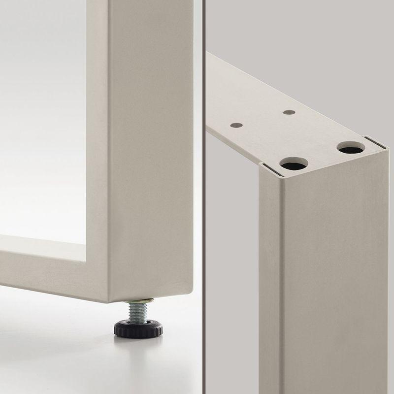 pied de table forme rectangle en metal noir hauteur. Black Bedroom Furniture Sets. Home Design Ideas