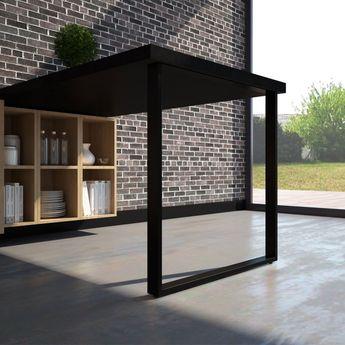 Pied de table rectangulaire TELESCOP Noir H 870 réglable