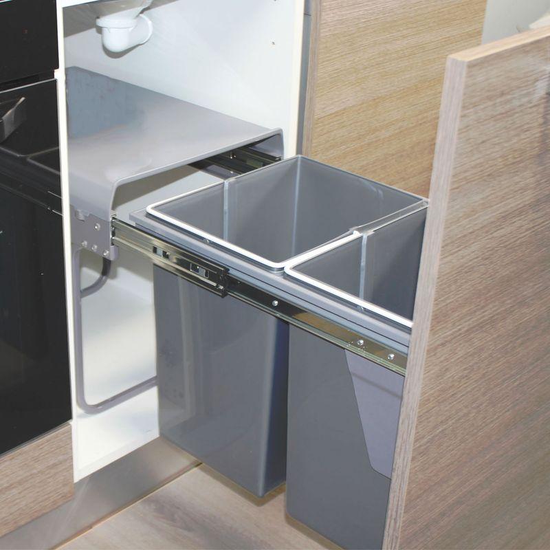 poubelle cuisine tri selectif 2 bacs encastrable. Black Bedroom Furniture Sets. Home Design Ideas