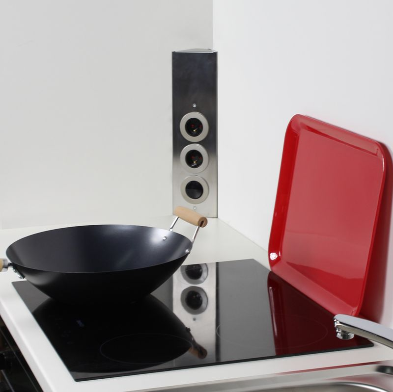 bloc de pris d angle pour cuisine en inox. Black Bedroom Furniture Sets. Home Design Ideas