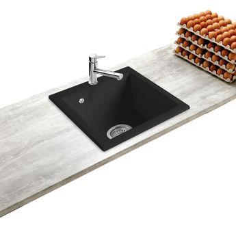 Évier céramique noir FELIX 1 bac 410x505 mm