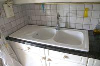 Evier céramique blanc Villeroy & Boch TARGA 2 bacs 1 égouttoir