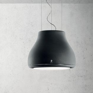 Hotte Shining Decorative En Ilot Noir Mat De Chez Elica