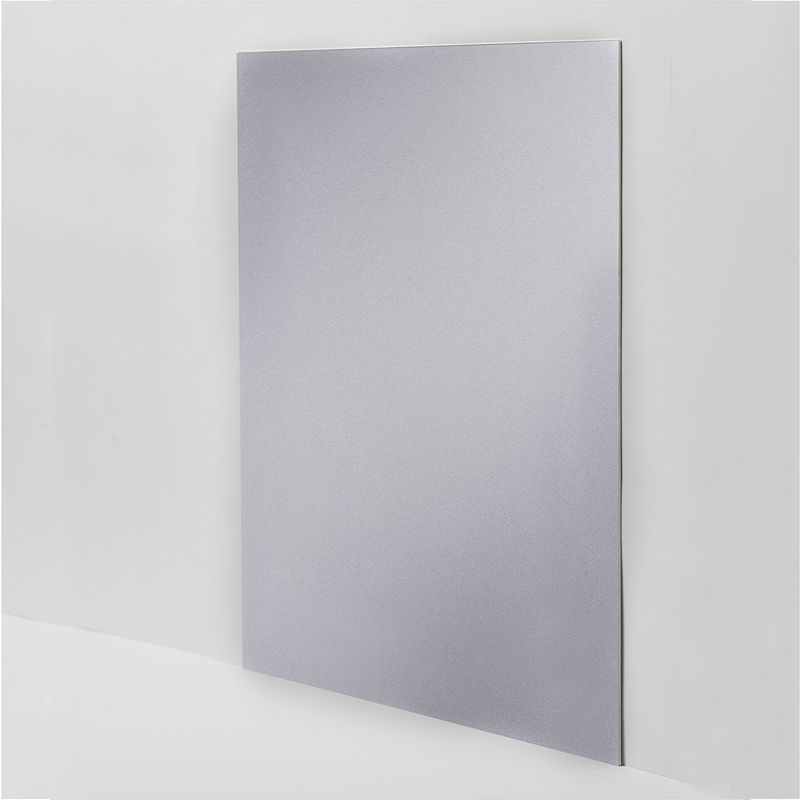 cr dence de cuisine en aluminium gris m talis fond de hotte pas cher. Black Bedroom Furniture Sets. Home Design Ideas