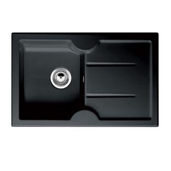 Evier céramique noir BLANCO IDESSA 45 S 1 bac - égouttoir à droite