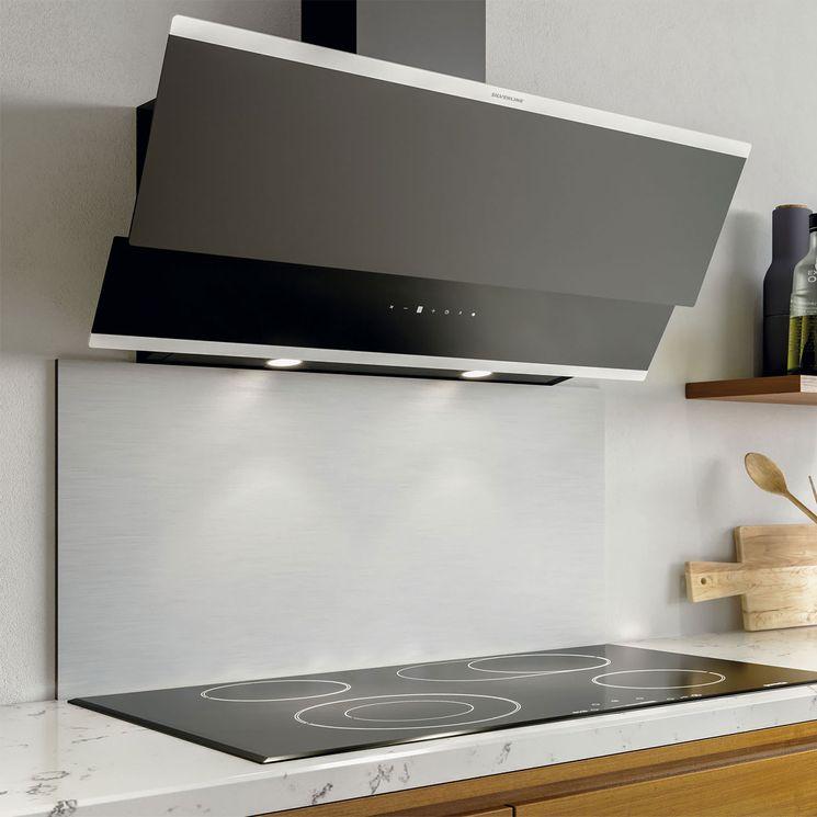 Hotte cuisine verticale Silverline LUKO verre trempé noir