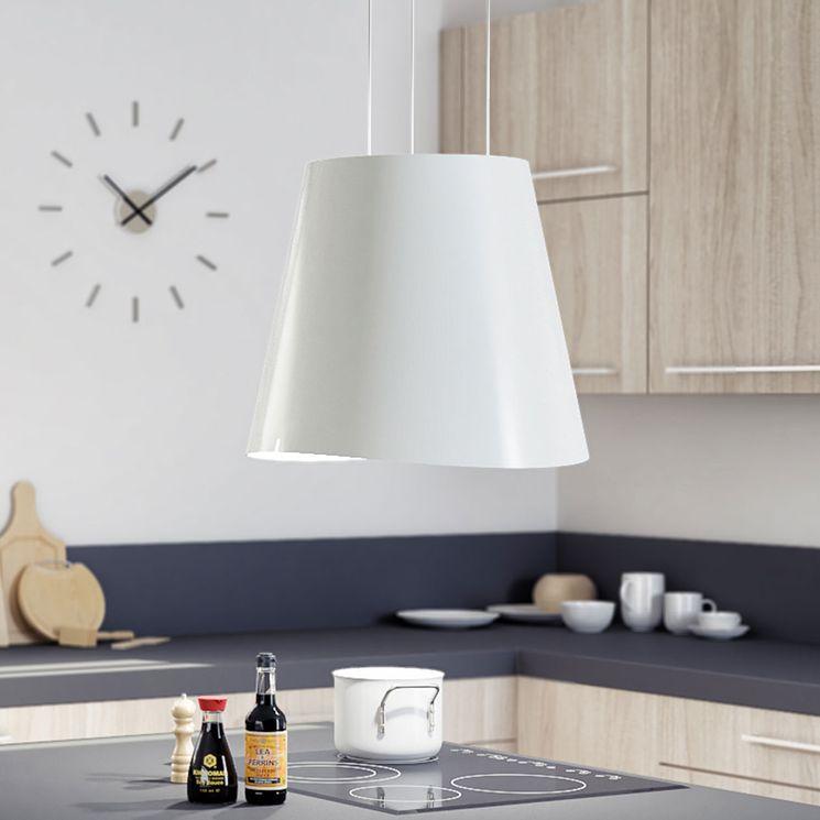 Hotte cuisine Elica suspendue inox blanc JUNO  50 cm