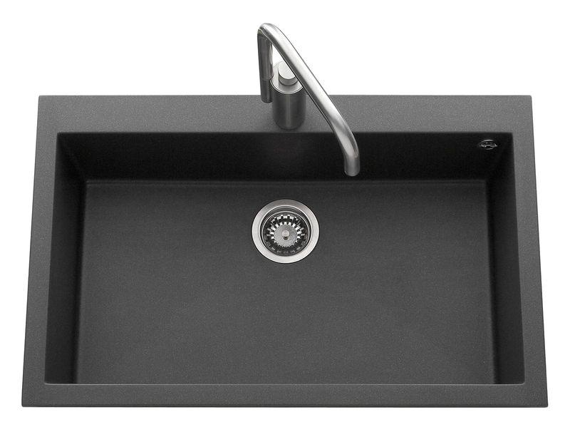 vier timbre d office poser en c ramique noir mat villeroy boch des viers au style r tro. Black Bedroom Furniture Sets. Home Design Ideas