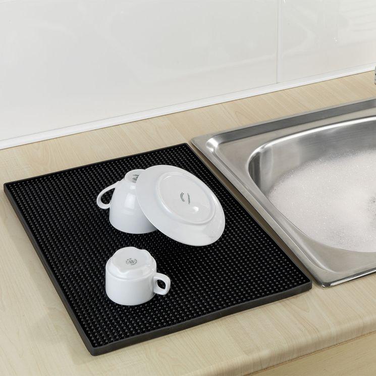 Tapis égouttoir à vaisselle WENKO MAXI noir