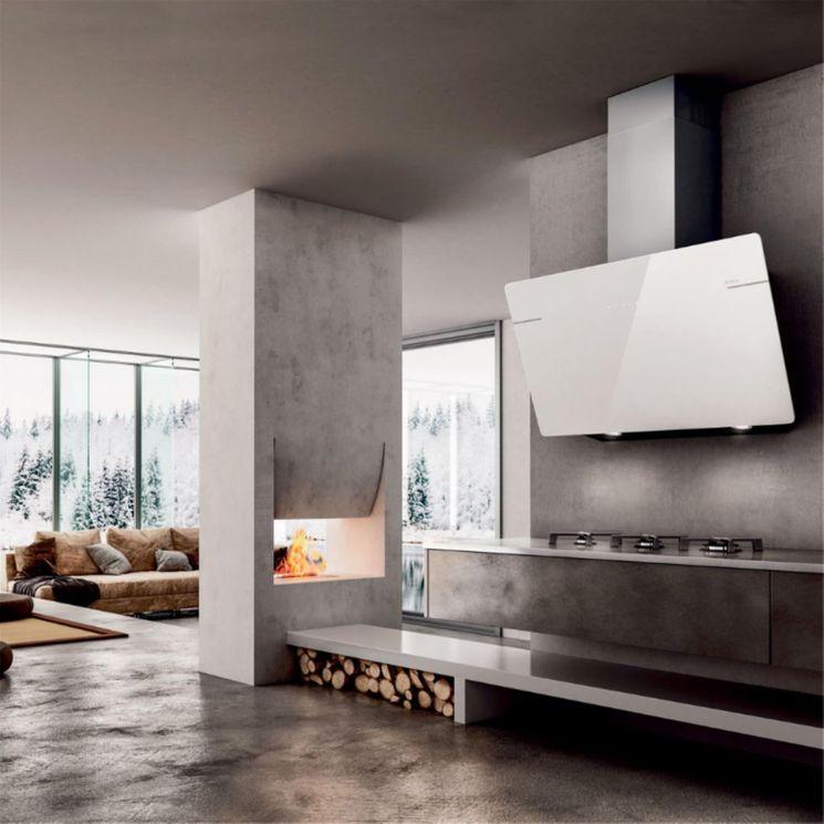 Hotte cuisine murale Elica L´ESSENZA verre trempé blanc 90 cm