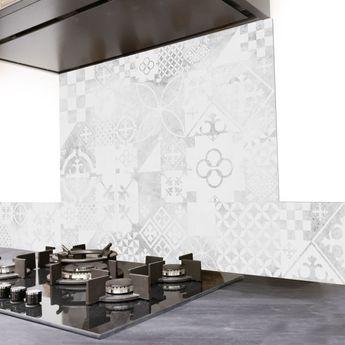 Crédence cuisine aluminium 99 Déco - Carreaux de Ciment PATTY Béton usé