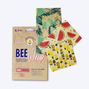 Bee wrap - Pack de 3 Emballages Alimentaires Original