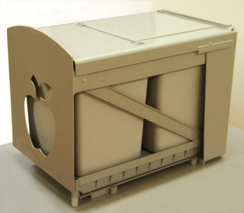 Poubelle de cuisine poubelle extractible inox 1 bac 16 - Poubelle de cuisine automatique 30 litres ...