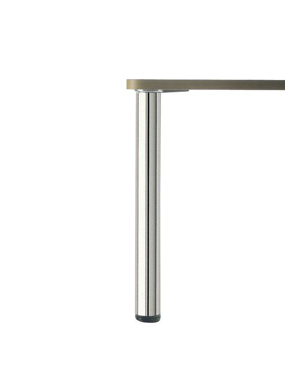 PIED DE TABLE ROND Chromé H 700 x  60