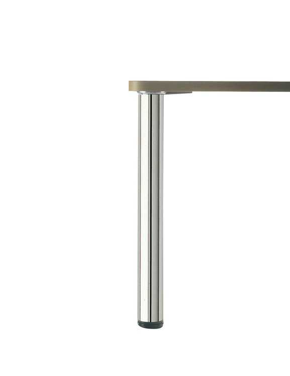 PIED DE TABLE ROND Chromé H 870