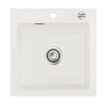 Évier céramique blanc Systemceram MERA 1 bac 510x510 mm