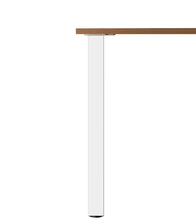 PIED DE TABLE CARRÉ Chromé  L60xH870