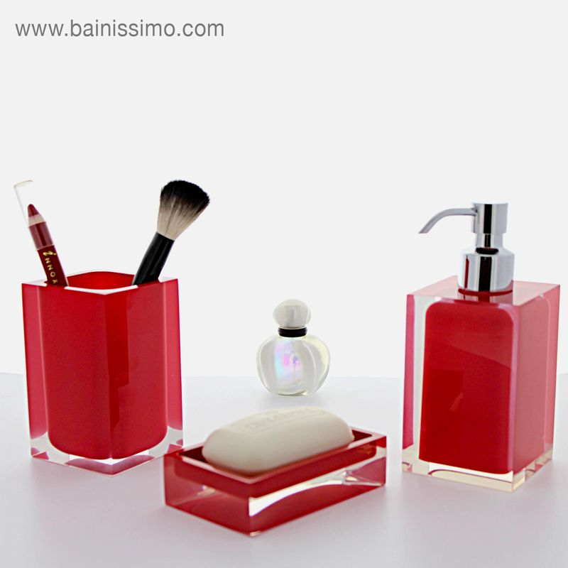 Distributeur De Savon Rouge Up Rania Bainissimo