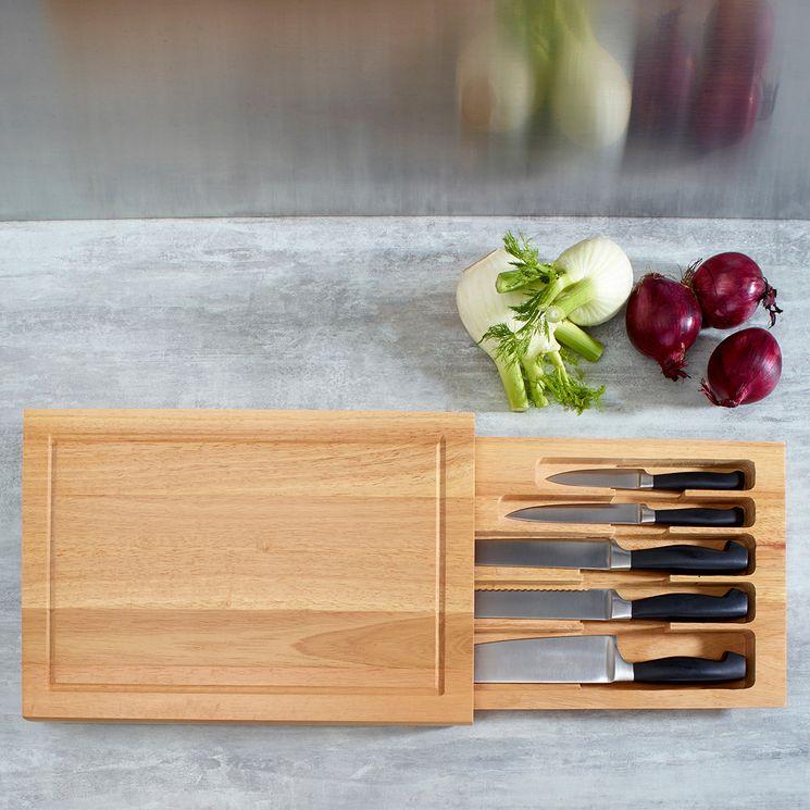 Set couteaux de cuisine + planche à découper SPIKE